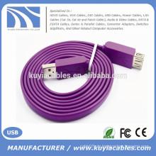 High Speed USB-Verlängerungskabel AM / AF Blau Rot Weiß Schwarz Lila Pink