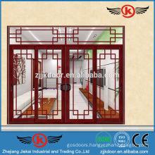 JK-AW9108 luxury solid glass panel interior door aluminum sliding door