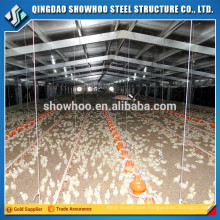 Low cost prefab steel poultry farm shed design broiler poultry barn