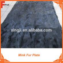Black Color Golf Mink Fur Plate