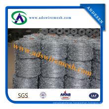 Bwg14*14 Bwg16*16 200m/250m/400m/500m for Brasil, Peru Galvanized Barbed Wire
