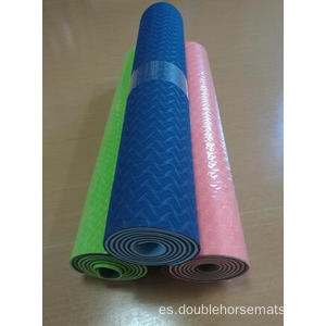Material TPE estera de yoga de doble color