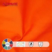 EN 1149-3 retardador de chama 80 algodão 20 poliéster tecido anti estático usado em petróleo