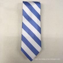 Ihre eigene Marke handgemachte italienische Seide Unterschrift Solid Stripe Krawatten für Männer