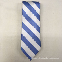 Sua própria marca Hand Made Italian Silk Assinatura Solid Stripe Neck Ties for Men