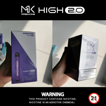 Maskking desechable High 2.0 e-cig venta caliente vape