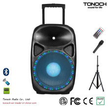 OEM 10 Inches Plastic Trolley Active Speaker with Battery