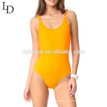 traje de baño de una pieza sin respaldo de Spandex de alta calidad para mujer