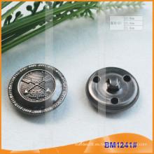 Botón de metal especial de latón con la parte posterior de lazo BM1241