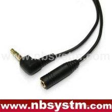 3,5 mm Stereo Stecker RA zu 3,5 mm Stereo Klinkenkabel Gold