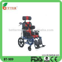 Cadeira de rodas em alumínio com apoio para a cabeça