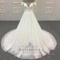 V-образным вырезом длинный хвост 2018 плеча для девочек свадебные платья свадебное платье