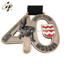 Bulk items zinc alloy enamel gold plated judo metal award medals