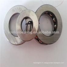 51102 51104 roulement à billes en acier chromé en acier inoxydable