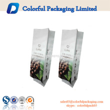 Stand Up Pouch Papel de aluminio Coffee Packaging Bag con cremallera y válvula
