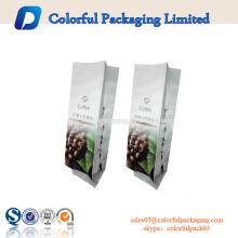 Levante-se o saco de empacotamento do café da folha de alumínio do malote com zíper e válvula