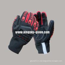 Rindspaltleder High Impact Schutz TPR Handschuh-7306
