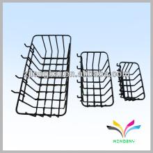 alambre de metal negro robusto soldado baño funcional conveniente colgando la cesta