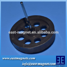 Multipolar Fabricante del rotor del motor / Certificado TDK-FBSH Propiedades magnéticas del imán de ferrita anisotrópico radial multipolar