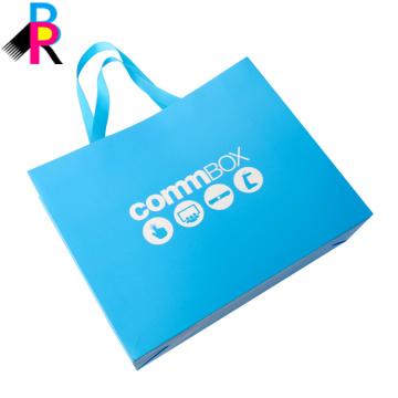 Sac de tissu de T-shirt pour emballer des sacs faits main avec le logo fait sur commande
