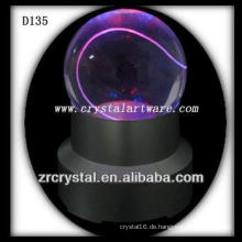 K9 Laser geätzt Kristallkugel mit LED-Basis bunt