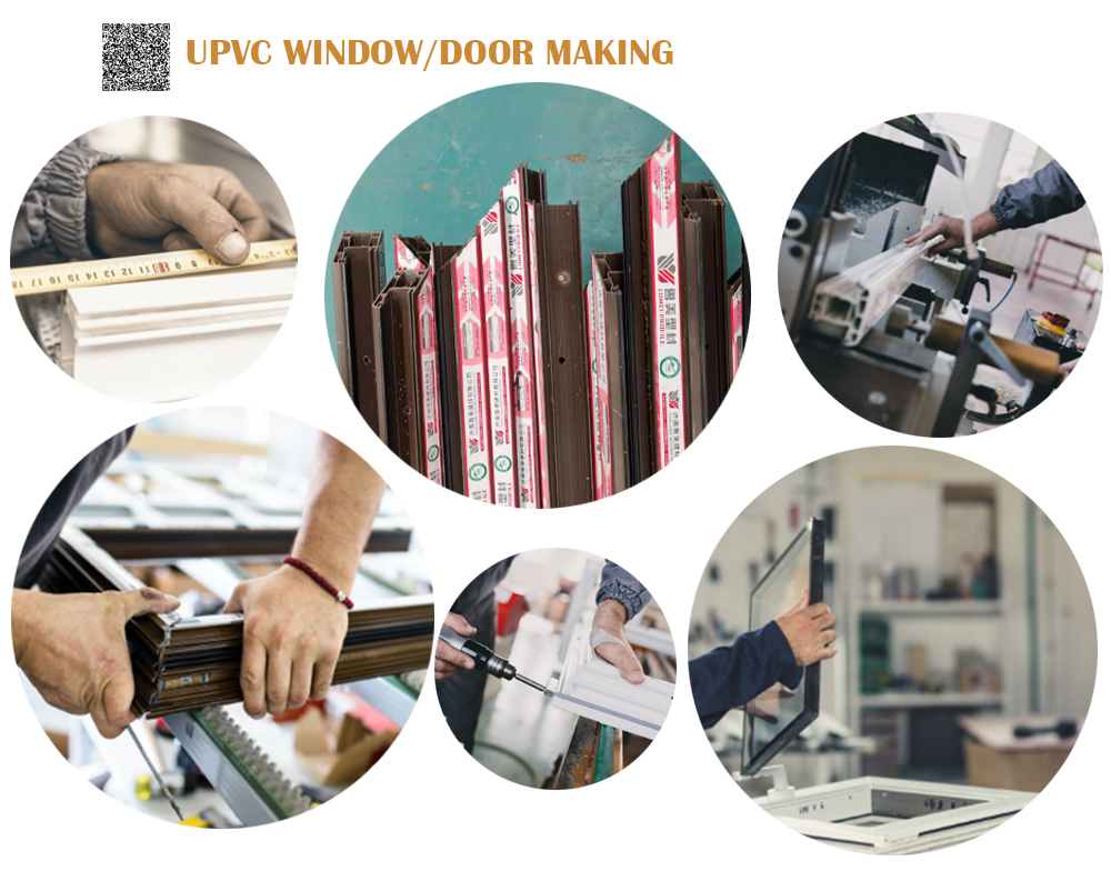 UPVC Sliding Windows Making