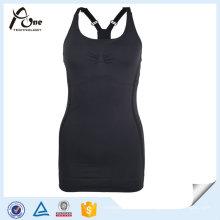 Femmes Blank Tops Noir Gros Gym Stringer Singlet