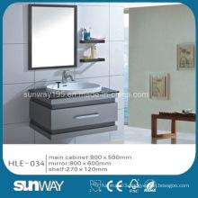 Hot Sell Silver Mirror Stainless Steel Luxury Bathroom Vanity Cabinet