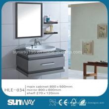 Hot Sell Silver Mirror Stainless Steel Gabinete de luxo da vaidade do banheiro