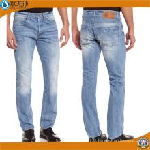 Atacado direto da fábrica comprar jeans em massa cintura alta rasgado magro Jean