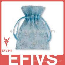 Blue Jeweled Organza sacos à venda