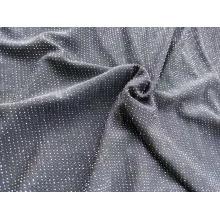 Tissu jacquard métallique à tricoter