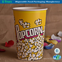 Popcorn Bowl Large Paper Container, Reusable Tub Movie Theater Bucket