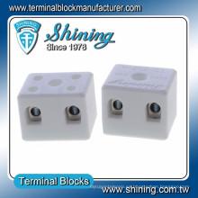 TC-202-A Termopar 600V 20A Conector de alambre de cerámica de 2 clavijas