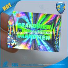 Etiqueta engomada del holograma 3d etiqueta engomada de encargo del holograma del arco iris