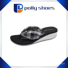 Girl′s Latest Summer High Heel Wedge Flip Flops