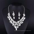 New Style Classique cristal clair plaqué argent collier