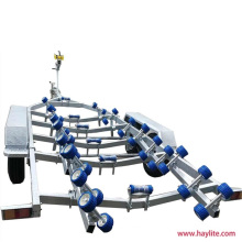 Galvanized Tandem Boat Trailer with Wobble Rollers