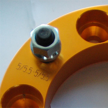 gloden anodizing finishing adapter part