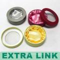 Round Custom Design Cardboard Bracelet Gold Silver Jewelry Box With Window