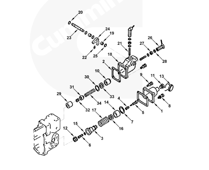 CUMMINS PT Pump Governor Spring Plunger 70820