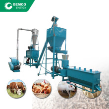 complete feed pelletizer making mini plant chicken feed pellet production line