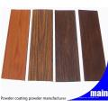 Hersteller Holzkorn Effekt Polyester Pulverlackierung