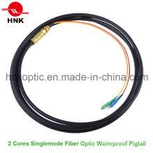 2 жилы Наружный одномодовый многомодовый водонепроницаемый оптоволоконный кабель