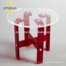 Jinbao moderno hogar cristalino pmma material muebles nueva mesa de acrílico