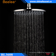 Beelee Household Hotel Use Round Brass Waterfall Shower Head