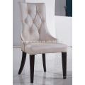 Blanco PU silla de comedor de cuero XYD036