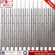 kitchen wall design pure color glossy stainless steel mosaic tile