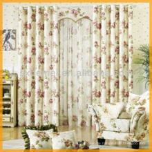 Wohnzimmer Vorhang floralen design