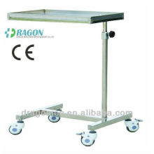 DW-HE014 Stainless steel over bed table rolling bed table